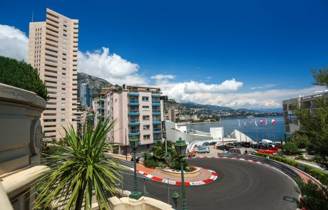 Monte Carlo, Monaco - 02 June 2014. Circuit de Monaco is a street circuit laid out on the city streets of Monte Carlo and La Condamine around the harbour of the principality of Monaco