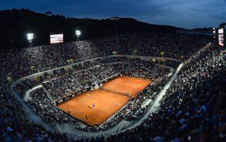 Il campo Centrale del Foro italico durante l'incontro fra Novak Djokovic e Thomaz Bellucci, 14 maggio 2015 (Mike Hewitt/Getty Images)