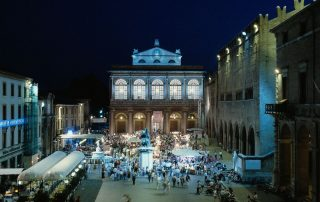 The iconic Piazza Cavour, a testament to Rimini's glorious past