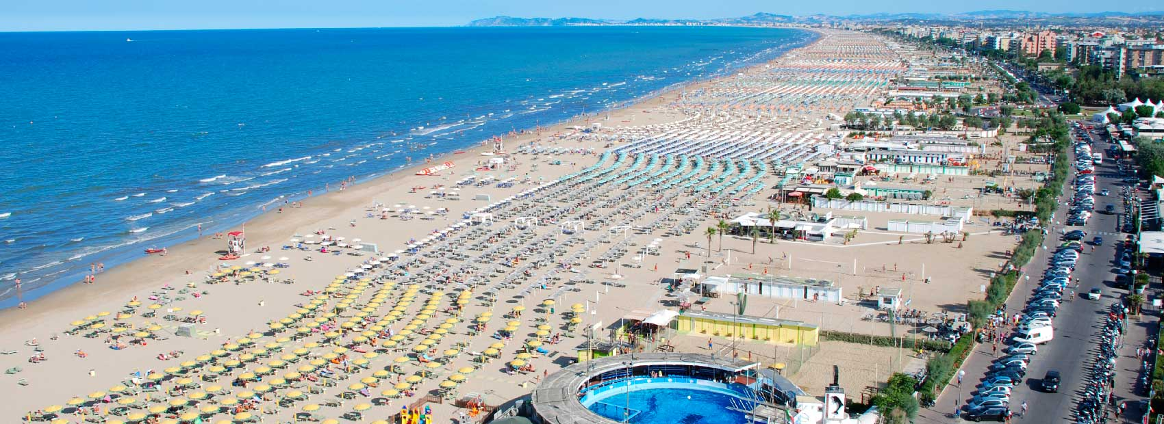 The Rimini beach is the most sought after destination for summer holidays - and it's nobody's wonder!